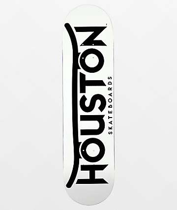 "Houston Logo Black & White 8.0"" Skateboard Deck"