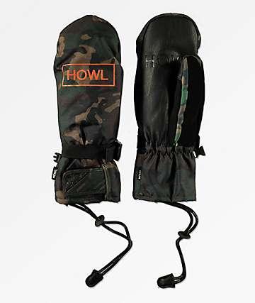 Howl Fairbanks Camo Snowboard Mittens