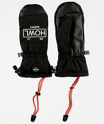 Howl Team Mitt Black Snowboard Mittens