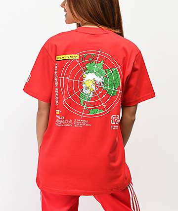 Hypland Flat Earth Red T-Shirt