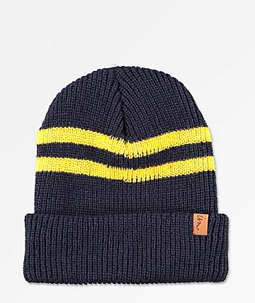 Imperial Motion Caster Navy & Gold Beanie