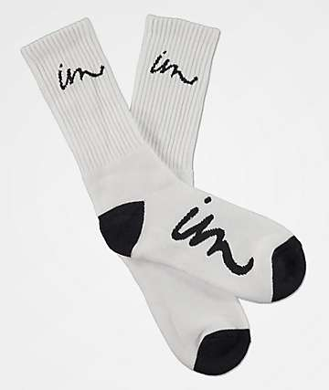 Imperial Motion Curser White Crew Socks