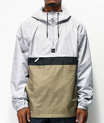 Imperial Motion Fleet Ghost Silver & Green Anorak Jacket