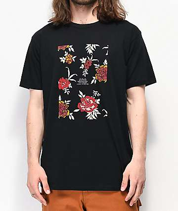 Imperial Motion Flower Box Logo Black T-Shirt