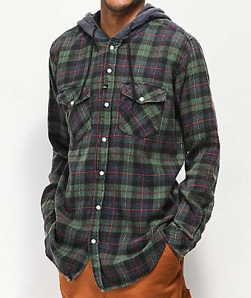 Imperial Motion Greenwich Hooded Flannel Shirt