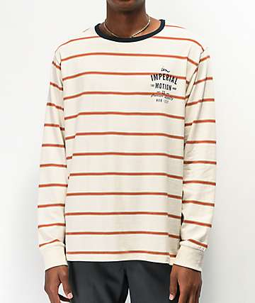 Imperial Motion Natural Stripe Long Sleeve Knit T-Shirt