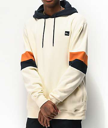 Imperial Motion Voyager Natural Cream and Navy Hoodie