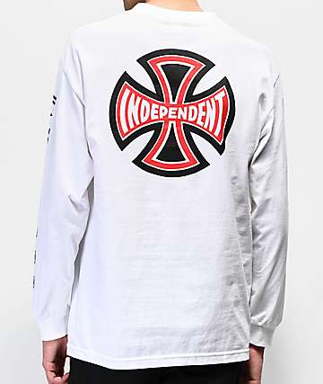 Independent Ante Black & White Long Sleeve T-Shirt