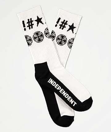 Independent Ante White Crew Socks