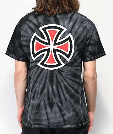 Independent Bar & Cross Black Tie Dye T-Shirt
