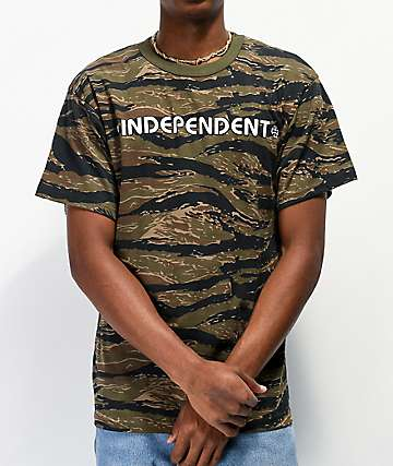 Independent Bar Cross Tiger Camo T-Shirt