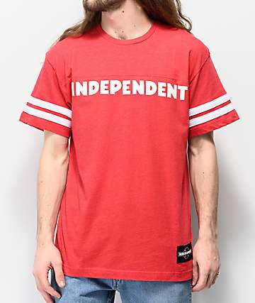 Independent Haste Football Red Knit T-Shirt