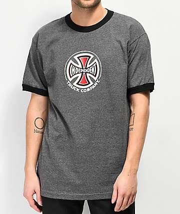 Independent Ringer camiseta gris