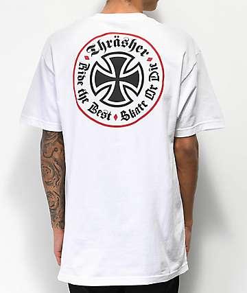Independent x Thrasher Oath camiseta blanca