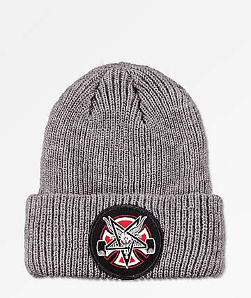 Independent x Thrasher Pentagram Grey Beanie