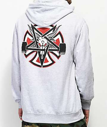 Independent x Thrasher Pentagram Grey Hoodie