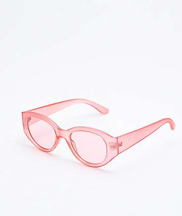 Insight Clear Pink Transparent Sunglasses