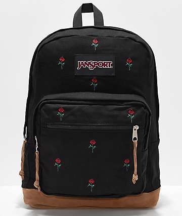 JanSport Right Pack Expressions Embroidered Roses Backpack