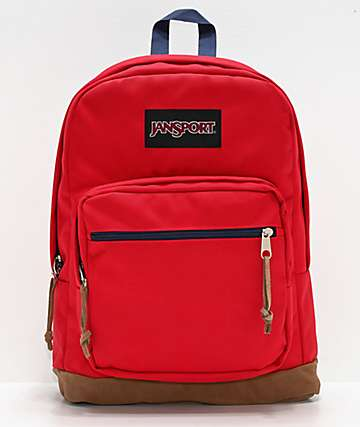 JanSport Right Pack Red Tape & Blue Backpack