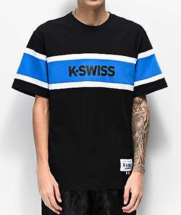 K-Swiss Ace Graphic Black & Blue T-Shirt
