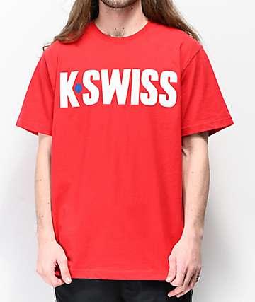 K-Swiss Hotshot Graphic Red T-Shirt