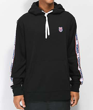 K-Swiss Taped Black Hoodie
