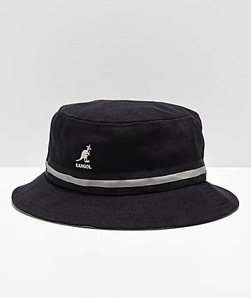 Kangol Stripe Lahinch Black Bucket Hat
