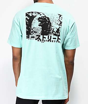 Key Street Gojira Mint Blue T-Shirt