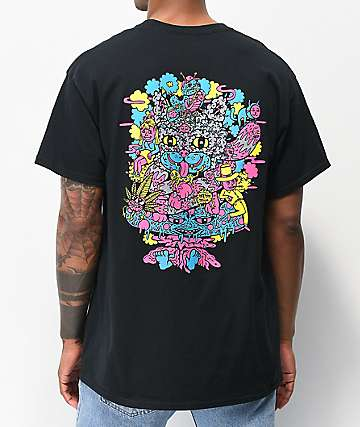 Killer Acid Cheshire OG Fluro Black T-Shirt