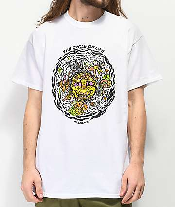 Killer Acid Cycle of Life White T-Shirt