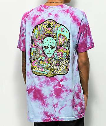 Killer Acid No Bad Trips Purple & Blue Tie Dye T-Shirt
