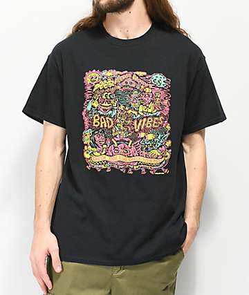 Killer Acid Prevent Bad Vibes Black T-Shirt