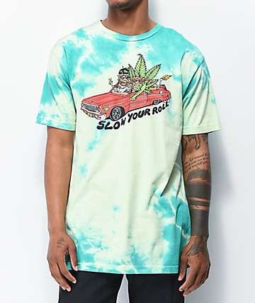 Killer Acid Slow Your Roll Lime Tie Dye T-Shirt