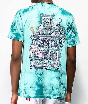 Killer Acid Spookhouse Blue Tie Dye T-Shirt