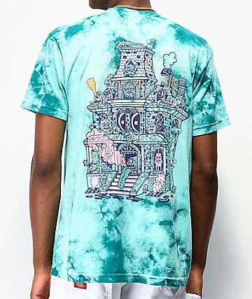 Killer Acid Spookhouse Blue Tie Dye T-Shirt