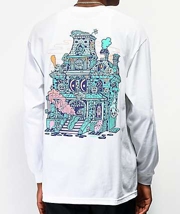 Killer Acid Spookhouse White Long Sleeve T-Shirt