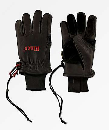 Kinco Premium Driver Black Snowboard Gloves