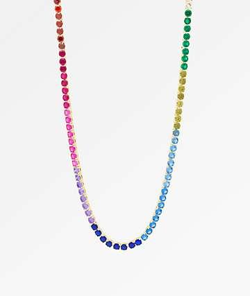 "King Ice 5mm Single Row Spectrum 22"" Necklace"