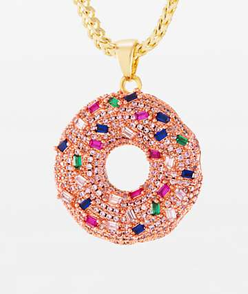 King Ice Donut Pendant Necklace