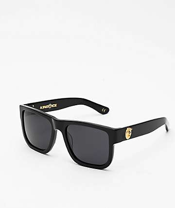 King Ice Lion Head Glossy Black Polarized Sunglasses