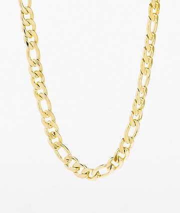 King Ice Women's Figaro Gold Chain Necklace