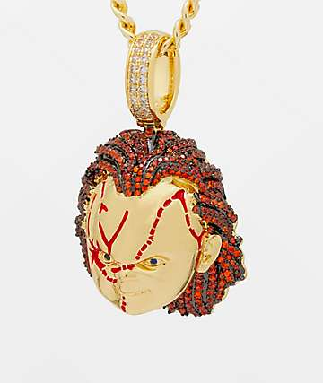 King Ice x Chucky Bad Guy Yellow Gold Necklace