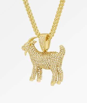 King Ice x Notorious B.I.G. The GOAT collar con colgante de oro