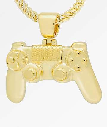 King Ice x PlayStation Classic PlayStation Controller collar de cadena de oro