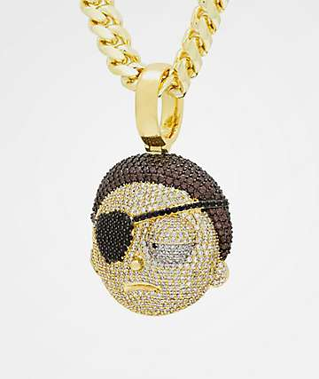 King Ice x Rick and Morty Evil Morty Gold Necklace