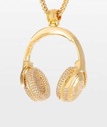 King Ice x Snoop Dogg collar con colgante de auriculares