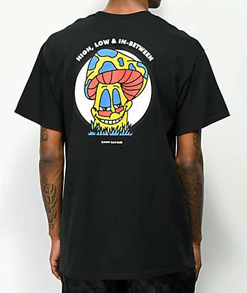 Know Bad Daze High Low Black T-Shirt