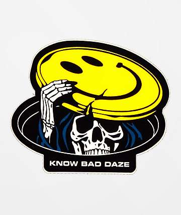 Know Bad Daze Peekaboo Sticker