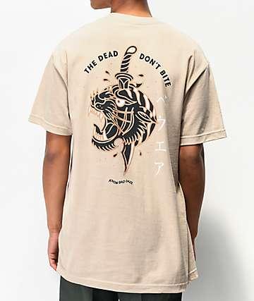 Know Bad Daze The Dead Don't Bite Natural T-Shirt
