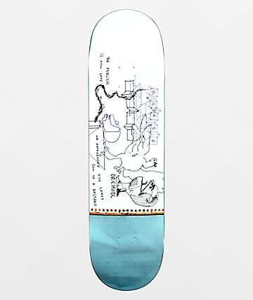 Krooked Drehobl Public Skate Deck Blue White 8.5